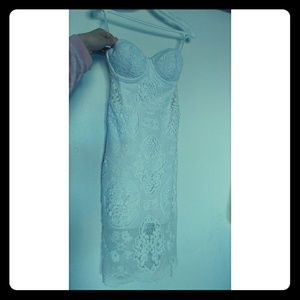 Bebe lace strapless Bodycon dress